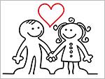 Liebeszauber glückliches Paar