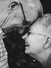 Romantik altes Paar